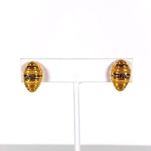 FENDI Small Beehive Monogram FF Vintage Earrings